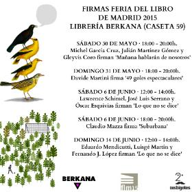 Firmas bigotudas en la Feria del Libro de Madrid